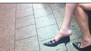 CLIPS4Sale Preview Heel Popping at Train Station