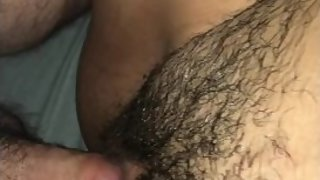 Giving My Pregnant WifeТs Hairy Pussy A Creampie