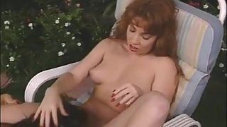 Mozenrath Presents : Beauty Redhead Prostitute licks Brunettes Lesbian