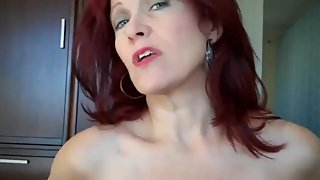Shameless mature stepmom gets creampie from her virgin stepson