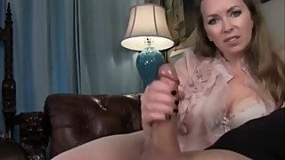 Naughty mature stepmom made her lucky stepson cum twice