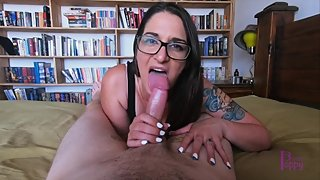POV MILF Blowjob Cum Swallow - Amateur Aussie Princess Poppy
