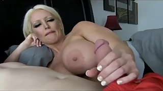 Slutty stepmom seduces and fucks her stepson while nobody home