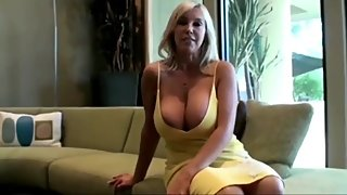 Busty and sexy stepmom having a real orgasm with her stepson