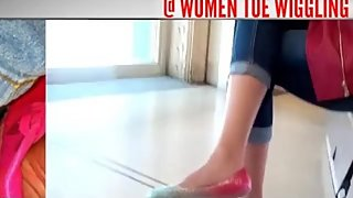 Clips4Sale Preview Indian Lady Deep Toe Wiggling in Rainbow Flats
