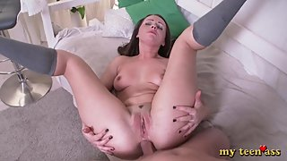 Cute Mom Fucked In A Big Ass - Cumshot On Her Face