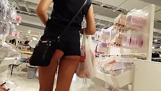 NORWEGIAN NORSK CANDID VOYEUR TEEN SHOPPING SHOWING ASS