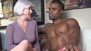 Horny wife cheating on husband with her black boss