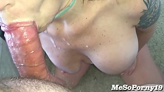 POV - RELENTLESS Cumshots on My Face/Big Tits & then ANAL Destruction