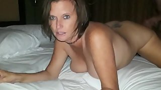 Husband films his busty wife gets hard drilled by her best friend