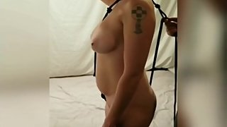 Redhead Wife Gets Rope Dress BDSM Hardcore Fucked Sucks Until Cumshot P2