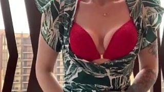 FULL VIDEO Squirting Orgasm on our resort balcony... too horny to wait!