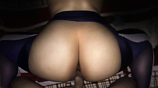 Thai Chubby wife fucked DOGGY 3 (Yoga pants Big !!!)