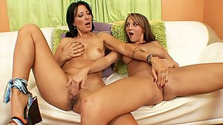 Big tits Mature MILF fingers her stepdaughter?s best friend at home