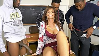 Syren DeMer Fucks Three Black Dudes In Front Of Her Cuckold Husband