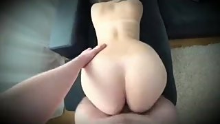 Step Son have strong erection when see step mom's ass and starts fucking