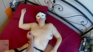 Happy mature wife fuckes, receves cum in mouth and swallows