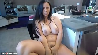 Chubby Busty Step Mom Slutting In Kitchen