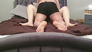 Step son fucking step mom using 10 inch of cock in her pussy