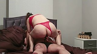 Step mom couldn't fuck and ride 10 inch of dick from step son