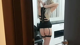 Son spied and fuck beautiful stepmom's ass