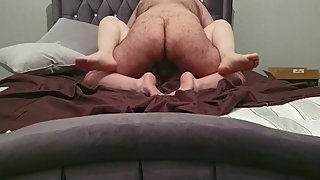 Step mom cheats husband with step son fucking him till he cums inside