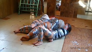 Sandra, AJ and Ruth Secretaries Tied Up and Tape Gagged