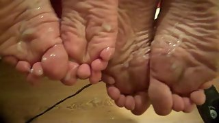 Cumming On 4 Stinky, Dirty, Mature Soles