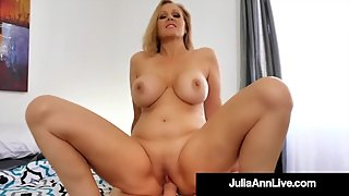 Horny Mommy Julia Ann Rides & Milks Her Step Son's Cock!