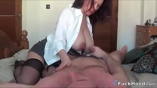 Beautiful Big Lactating Boobs Cheater Wife Fucks Around When Hubby Is Away