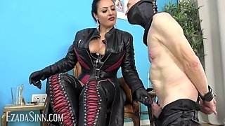 Ruined in leather neck corset (Preview)